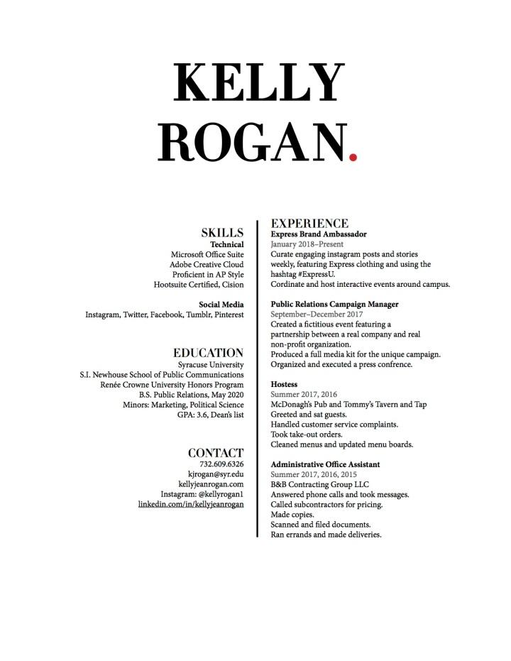 Kelly Rogan Resume Draft 3